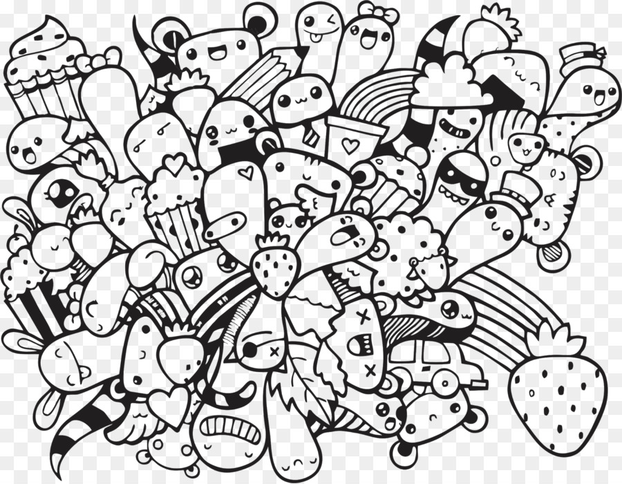 Doodle Coloring Book Art Drawing
