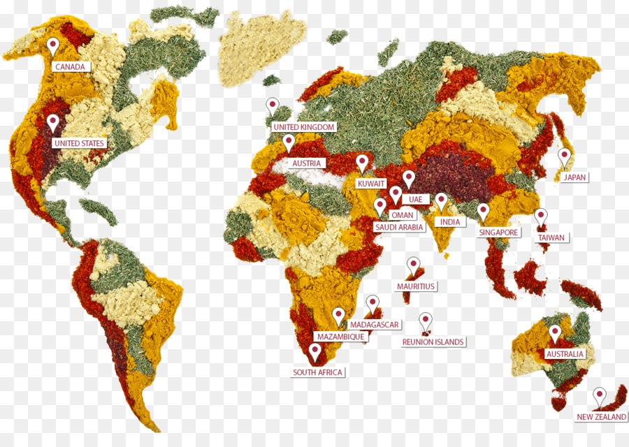 spice world map food herb herbs