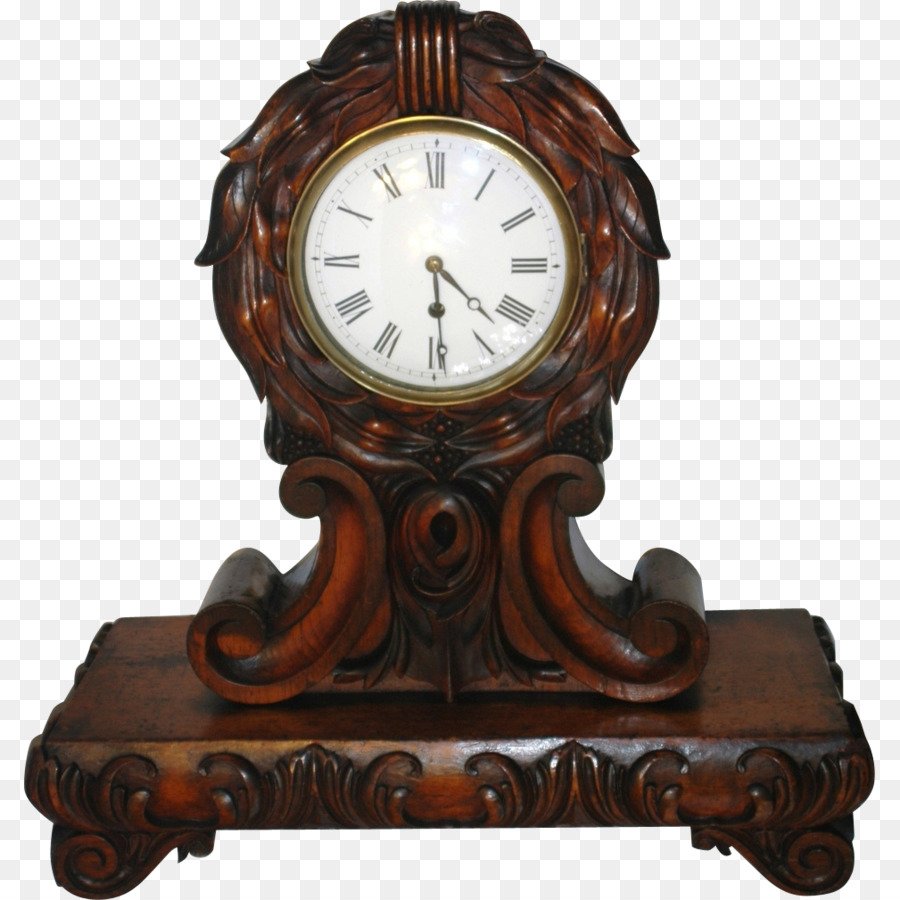 Antique mantel grandfather clock