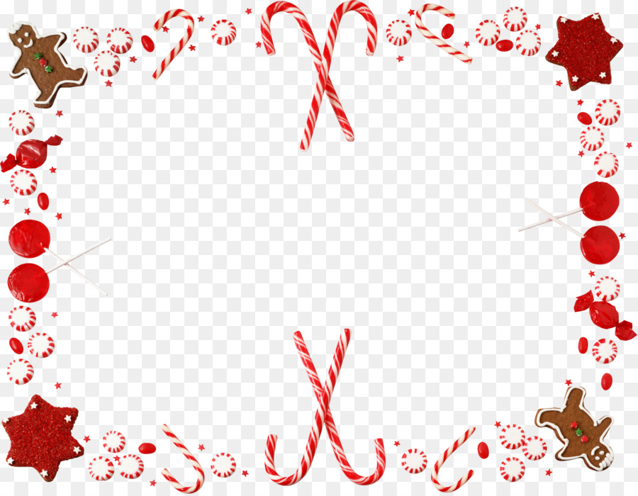 Candy cane Christmas Borders and Frames Clip art - garland frame png ...