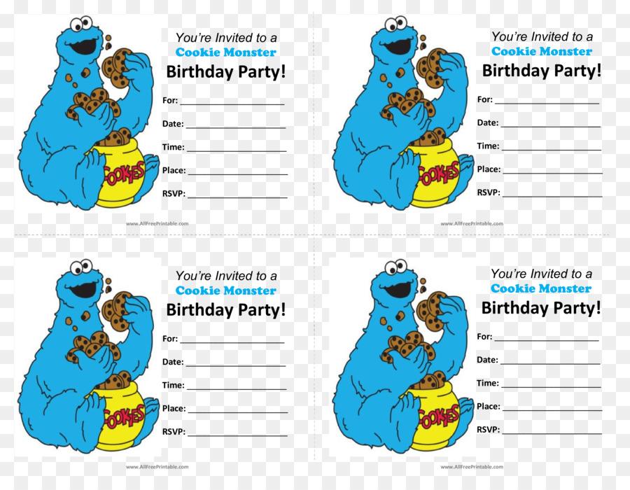 Feliz Cumpleaños, el Monstruo de las Galletas invitación de la Boda ...