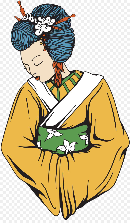 Geisha Art Woman Canvas print - woman png download - 4001*6764 ...