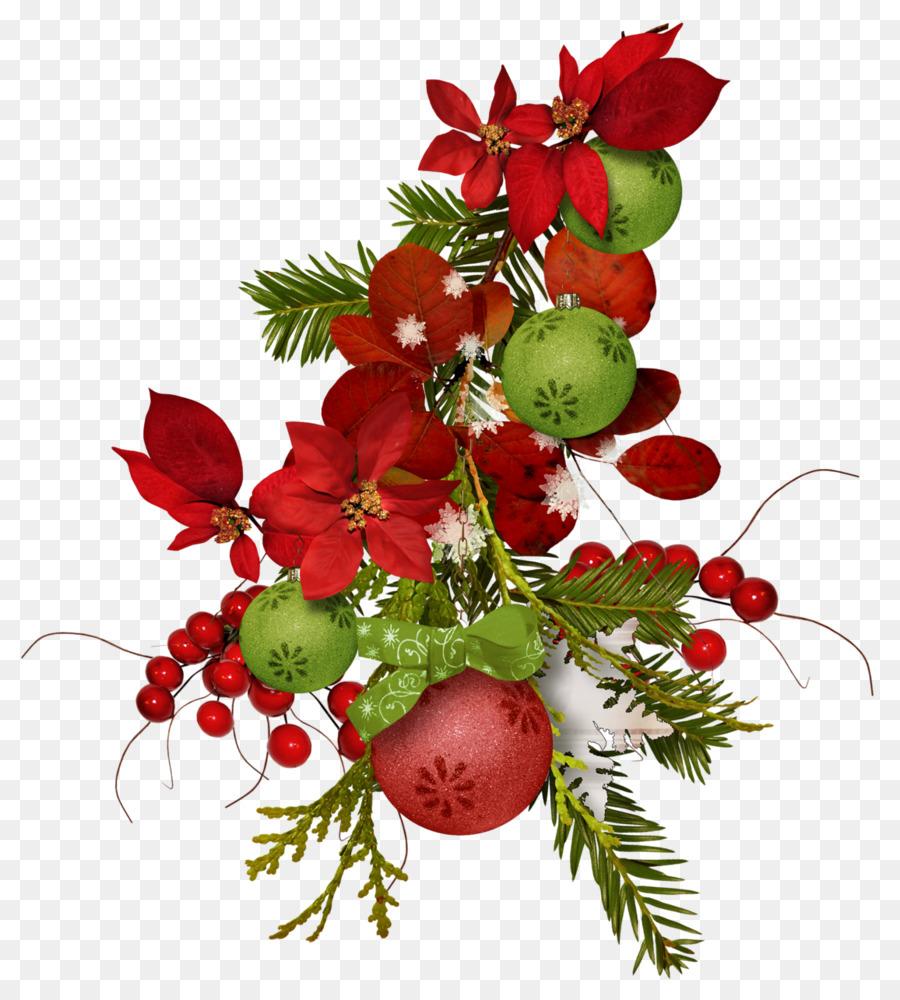Ornement De Noel De Fleurs Bouquet De Fleurs Coupees Noel