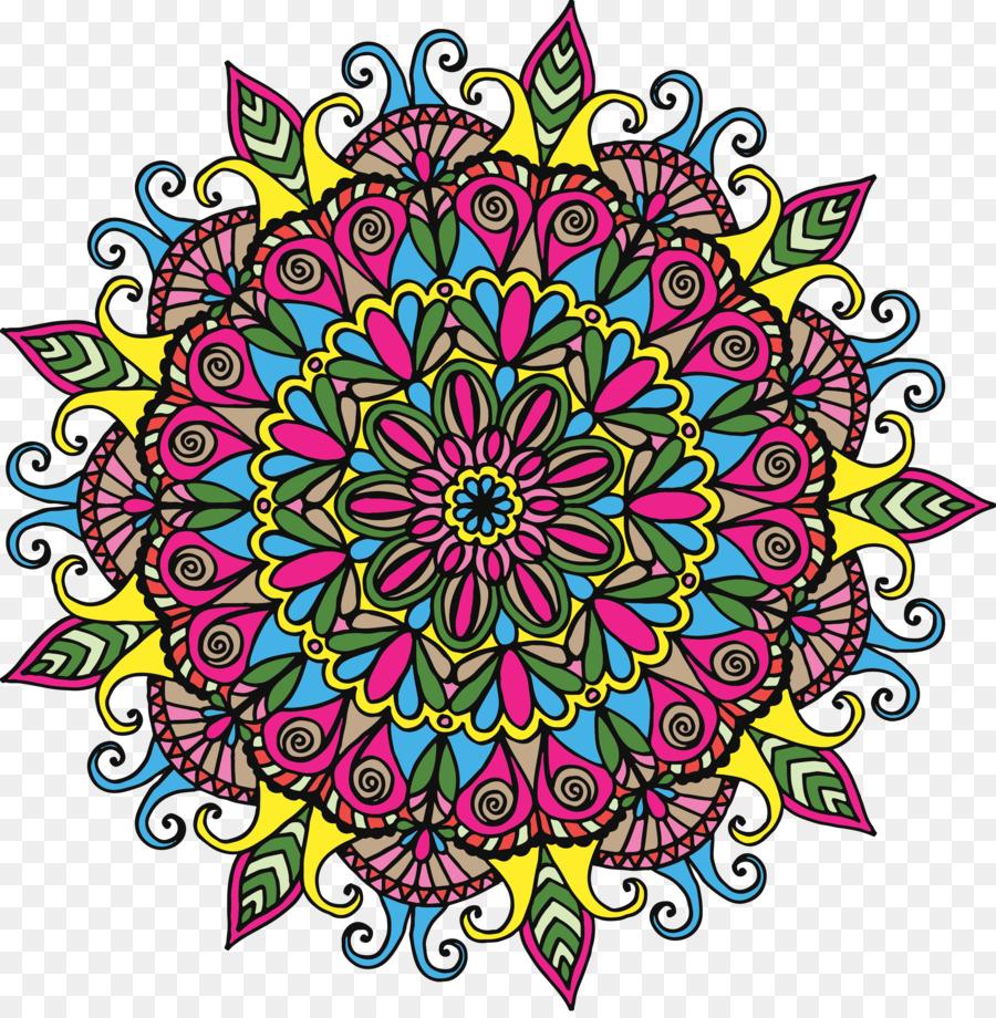 Mandala Drawing Coloring book Clip art - others png download - 3600 ...