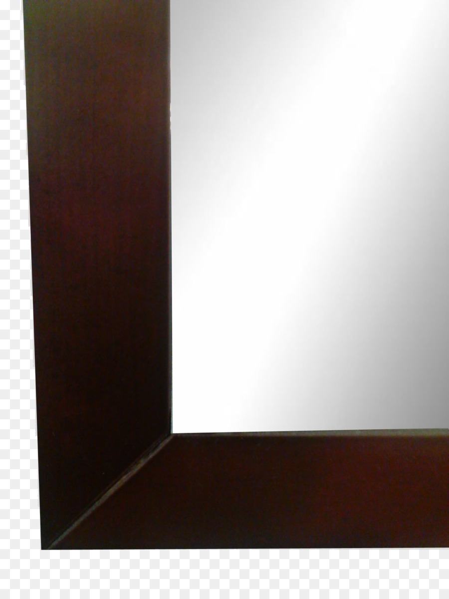 Wood Glass Mirror Picture Frames Bathroom - finish png download ...