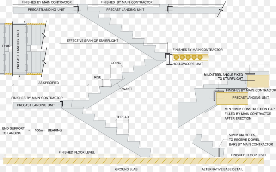 Precast Concrete Stairs Hollow Core Slab   Stair