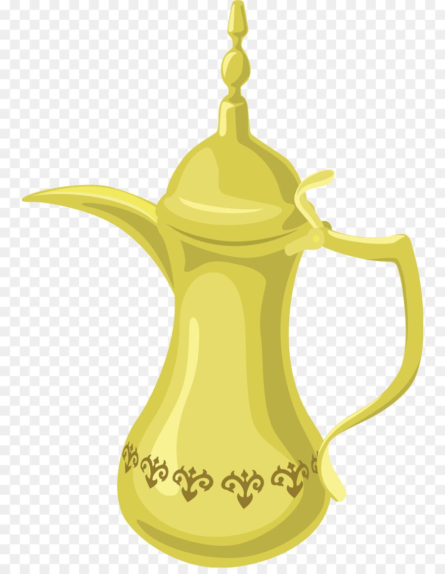 Arabic tea Arabic coffee Turkish tea Teapot - nine vector png ...