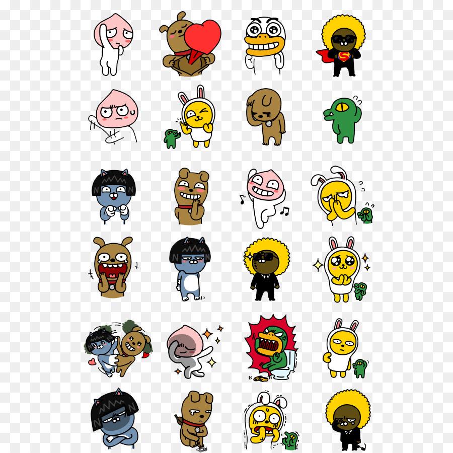 Kakaotalk Emoticons Kakao Freunden Sticker Orang Utan Vektor Png