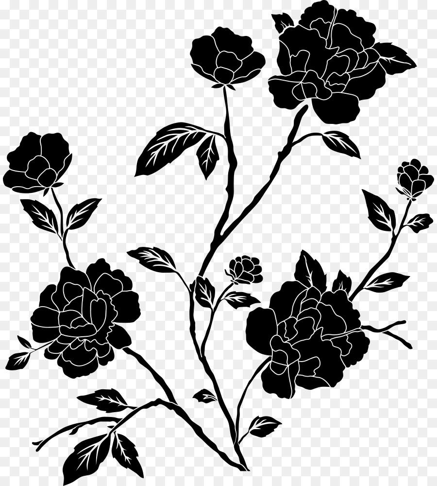 Flower Black And White Desktop Wallpaper Drawing Clip Art Rose