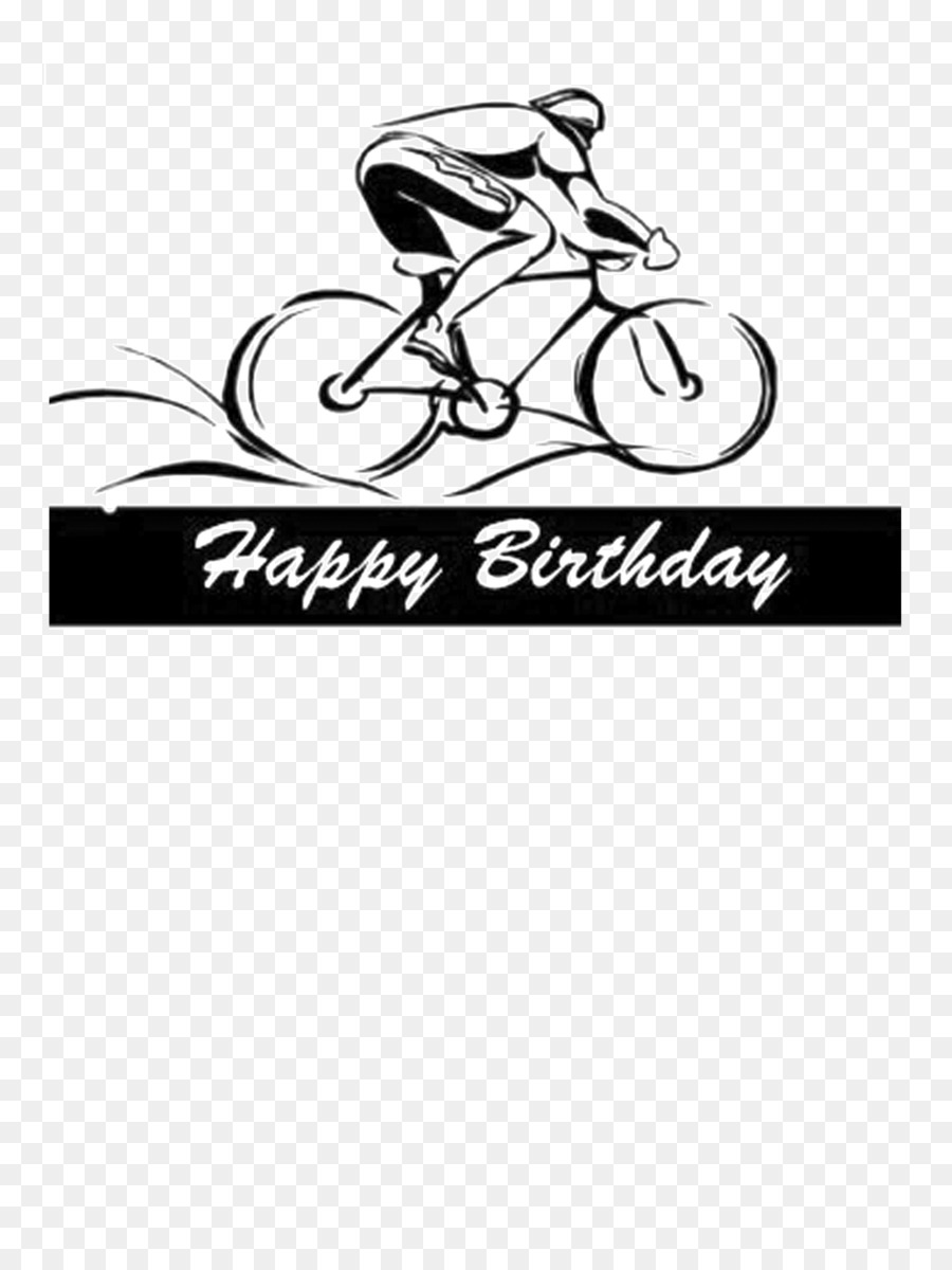 Happy Birthday Bicycle Cycling Greeting & Note Cards - Bicycle png ...