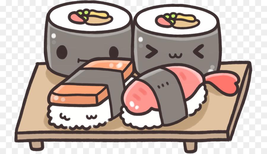 Sushi Japanische Kuche Zeichnen Kavaii Onigiri Cartoon Sushi Png