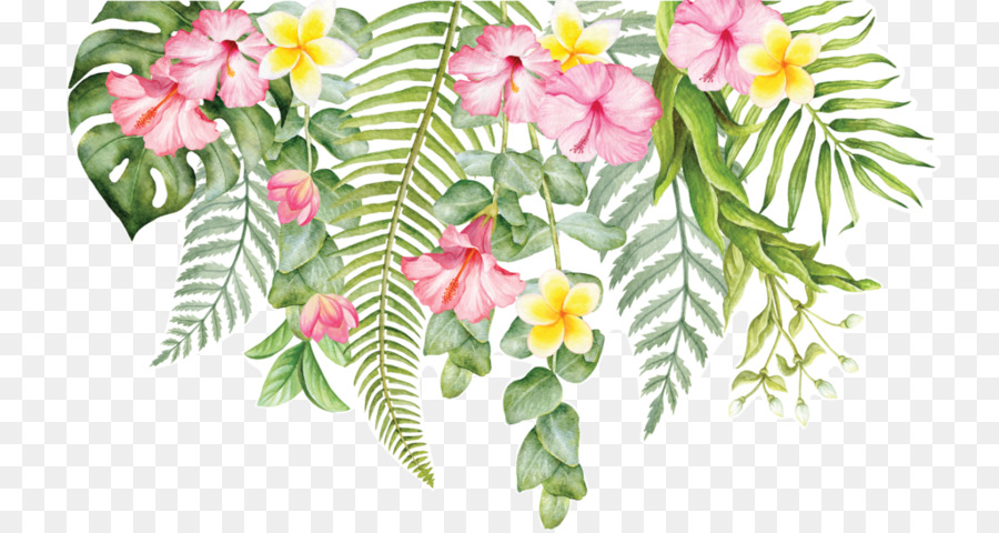 Cut flowers Wall decal Floral design - tropical flower  sc 1 st  PNG Download & Cut flowers Wall decal Floral design - tropical flower png download ...