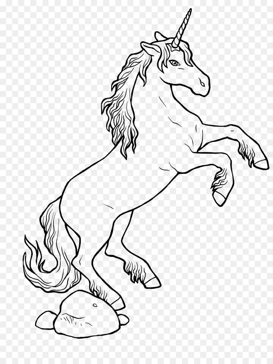 Ausmalbild Unicorn Coloring book Horse Legendary creature - unicorn ...