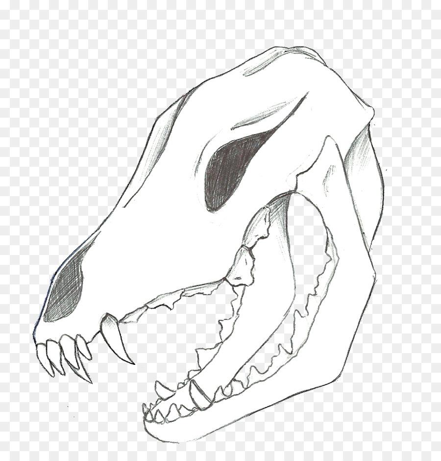 Arte de línea de Dibujo de lobo Gris libro para Colorear Calavera ...