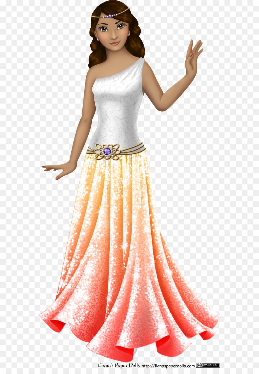 Paper doll Clothing Dress - flowing hair png download - 630*1282 ...