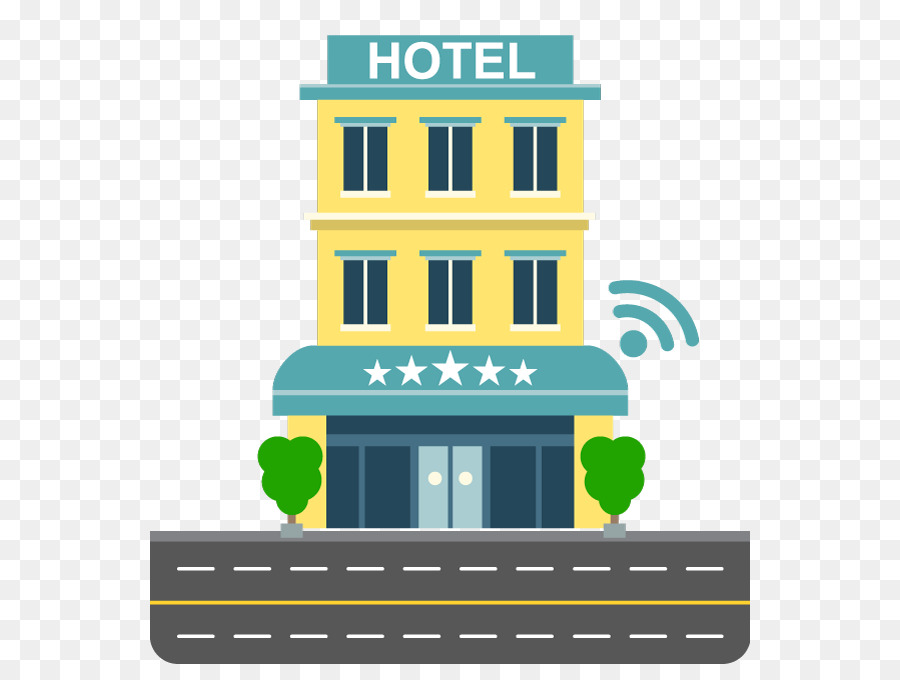 Infographic Hotel Building Wi Fi Clip Art