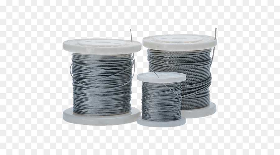 Wire rope Stainless steel - metal wire drawing png download - 500 ...