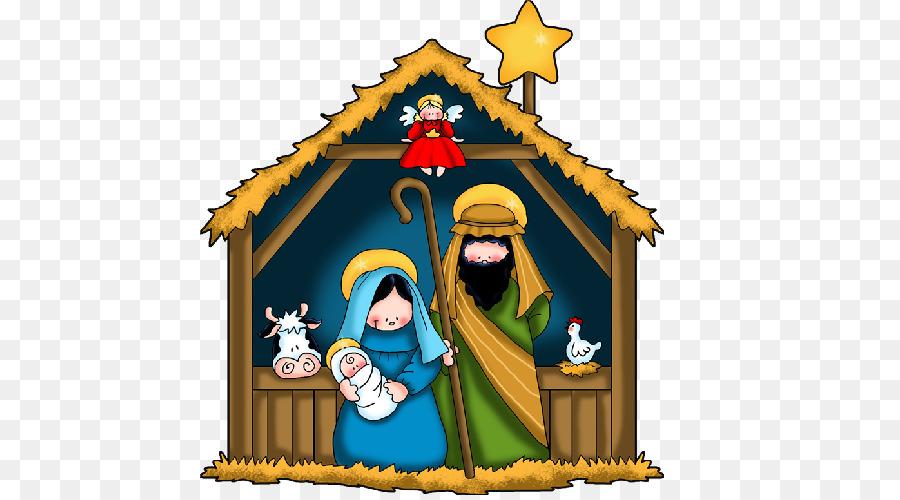 Nativity scene Nativity of Jesus Holy Family Clip art - christmas ...
