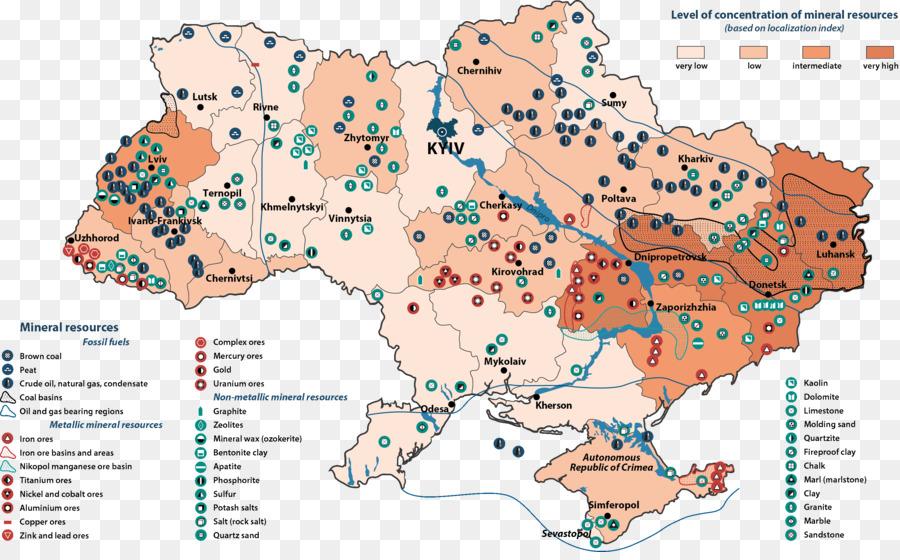 ukraine natural resource map field natural minerals