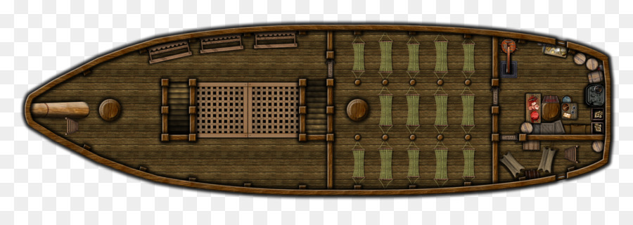 Dungeons Dragons Ship Boat Bilge Map Stairs Top View Png