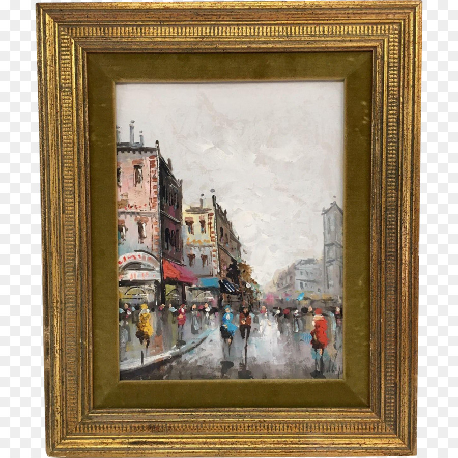 Picture Frames Oil painting Art Paris Street; Rainy Day - Oil ...