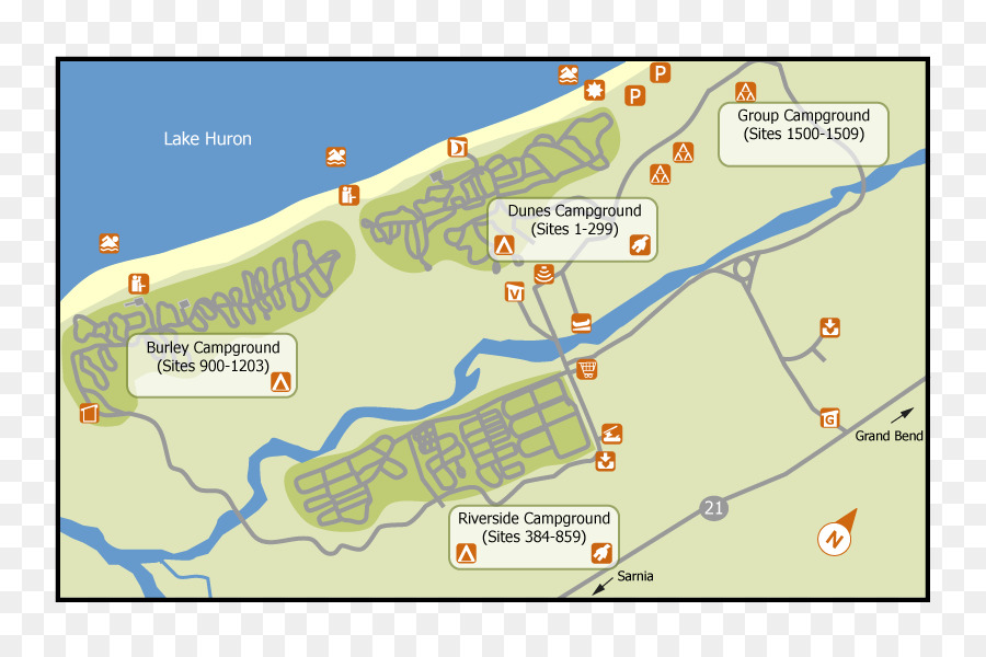 Ontario Parks Map Campsite Camping Tide Png Download 800600
