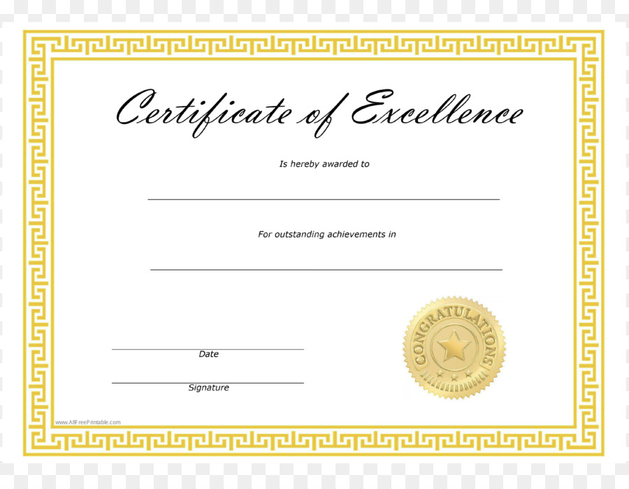 Template Microsoft Word Excellence Academic Certificate Template