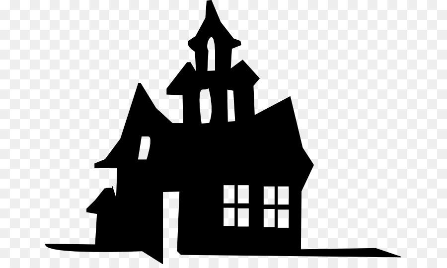 Haunted House Silhouette Stencil