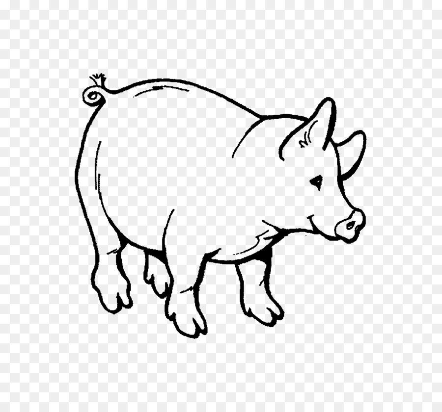Hausschwein Malbuch, Kind, Erwachsener - Schwein png herunterladen ...