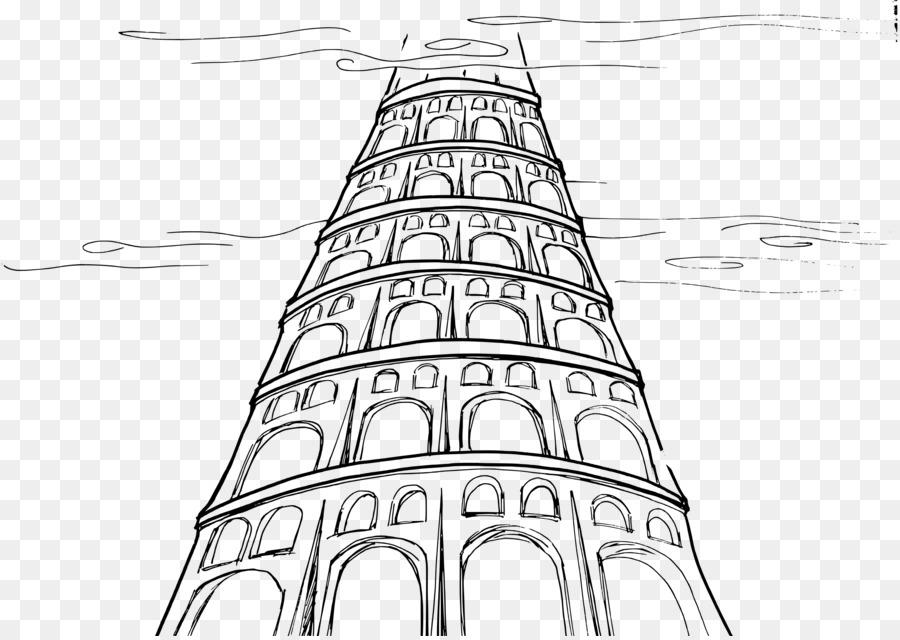 La torre de Babel Sinar Génesis de Dibujo de la Biblia - meng ...