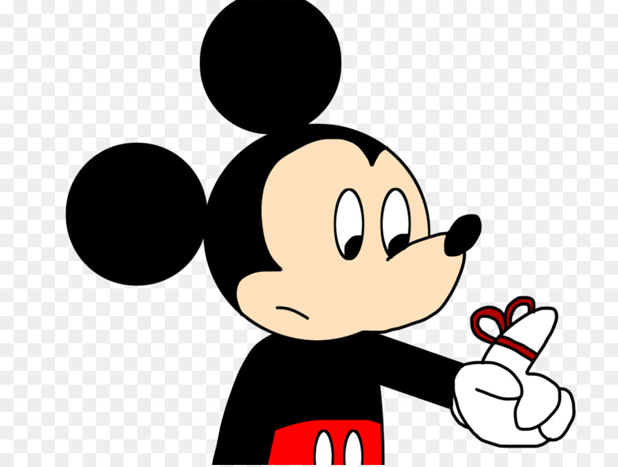 Mickey Mouse Minnie Middle Finger Hand