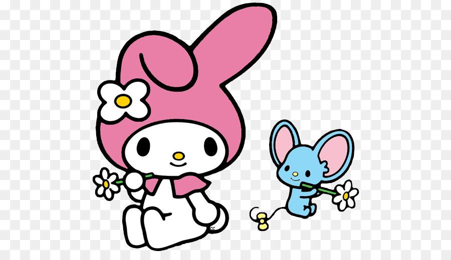 My Melody Hello Kitty Karakter Clip Art Melodi Saya Unduh Pink