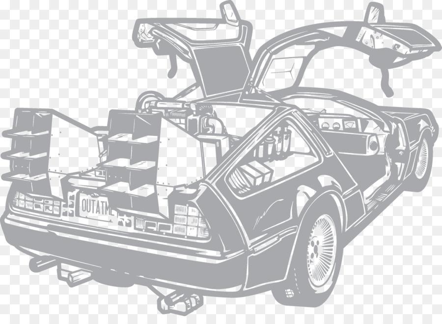 Coche DeLorean DMC-12 de Dibujo de Regreso al Futuro máquina del ...