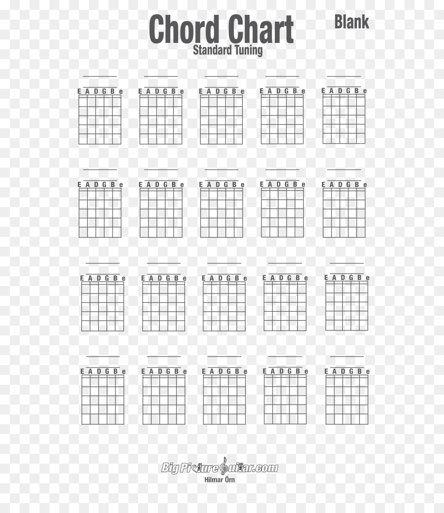 Guitar Chord Chord Chart Chord Diagram Printing Chart Png Download