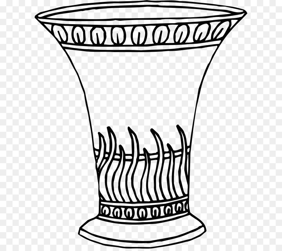 Drawing Vase Line Art Clip Art Vase Flowers Png Download 680793