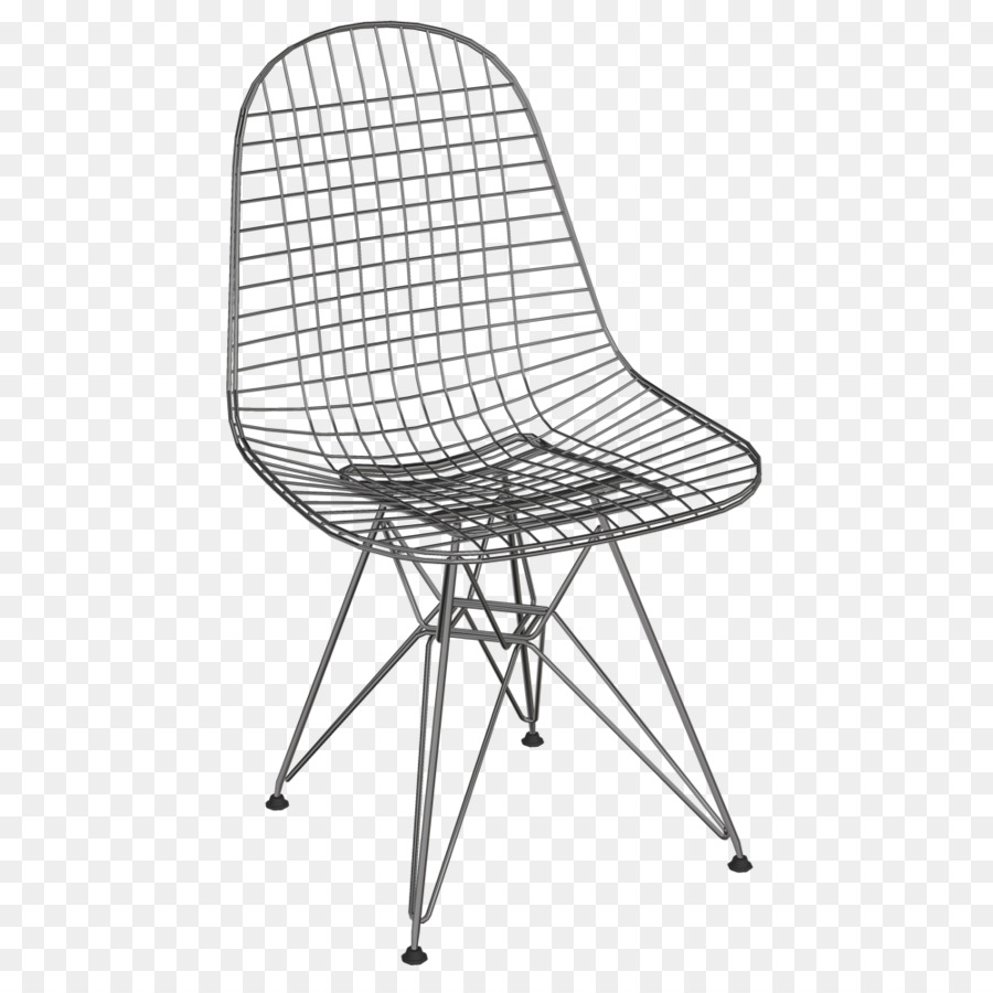 Eames Lounge Chair Wire Chair (DKR1) Vitra Charles And Ray Eames   Metal  Wire Drawing