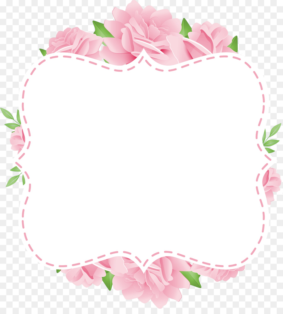 Paper Picture Frames Flower Wallpaper Blue Flowers Card Png