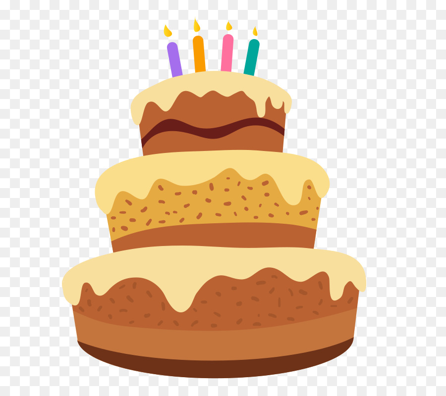Birthday Cake Frosting Icing Layer Clip Art