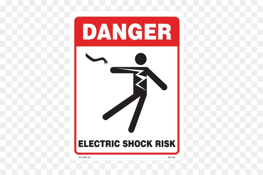 Hazard symbol Asbestos Warning label Risk - electric shock png ...