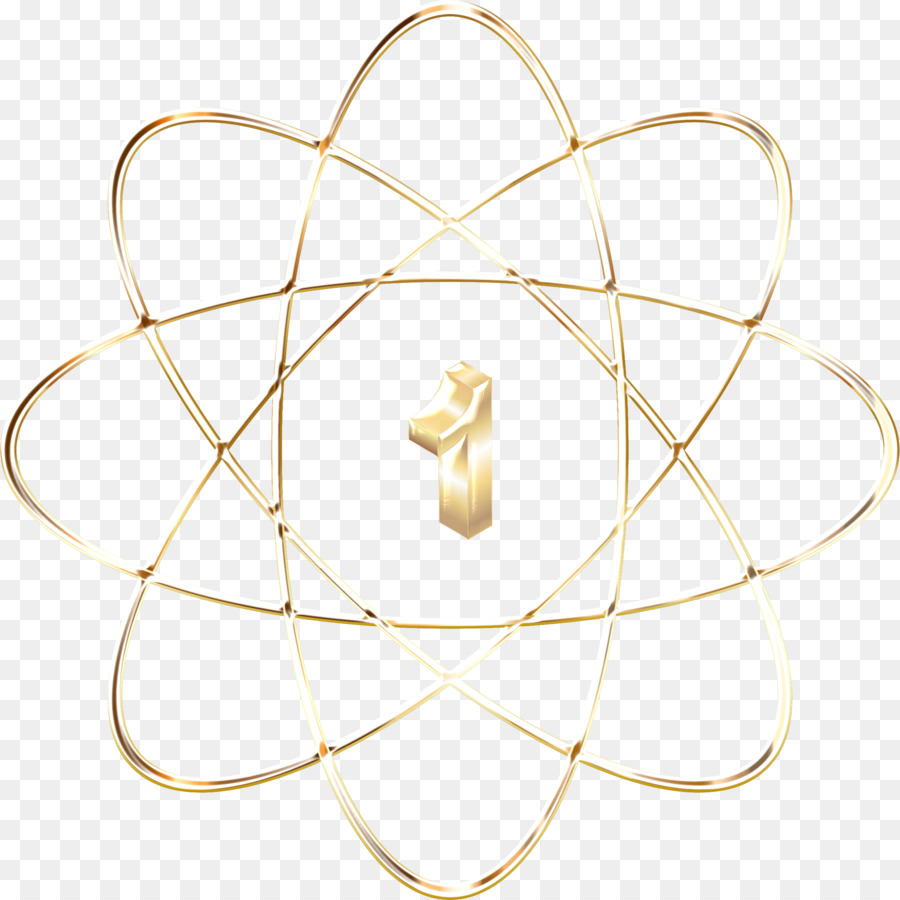 Atomic Number Gold Bohr Model Drawing Background Png Download