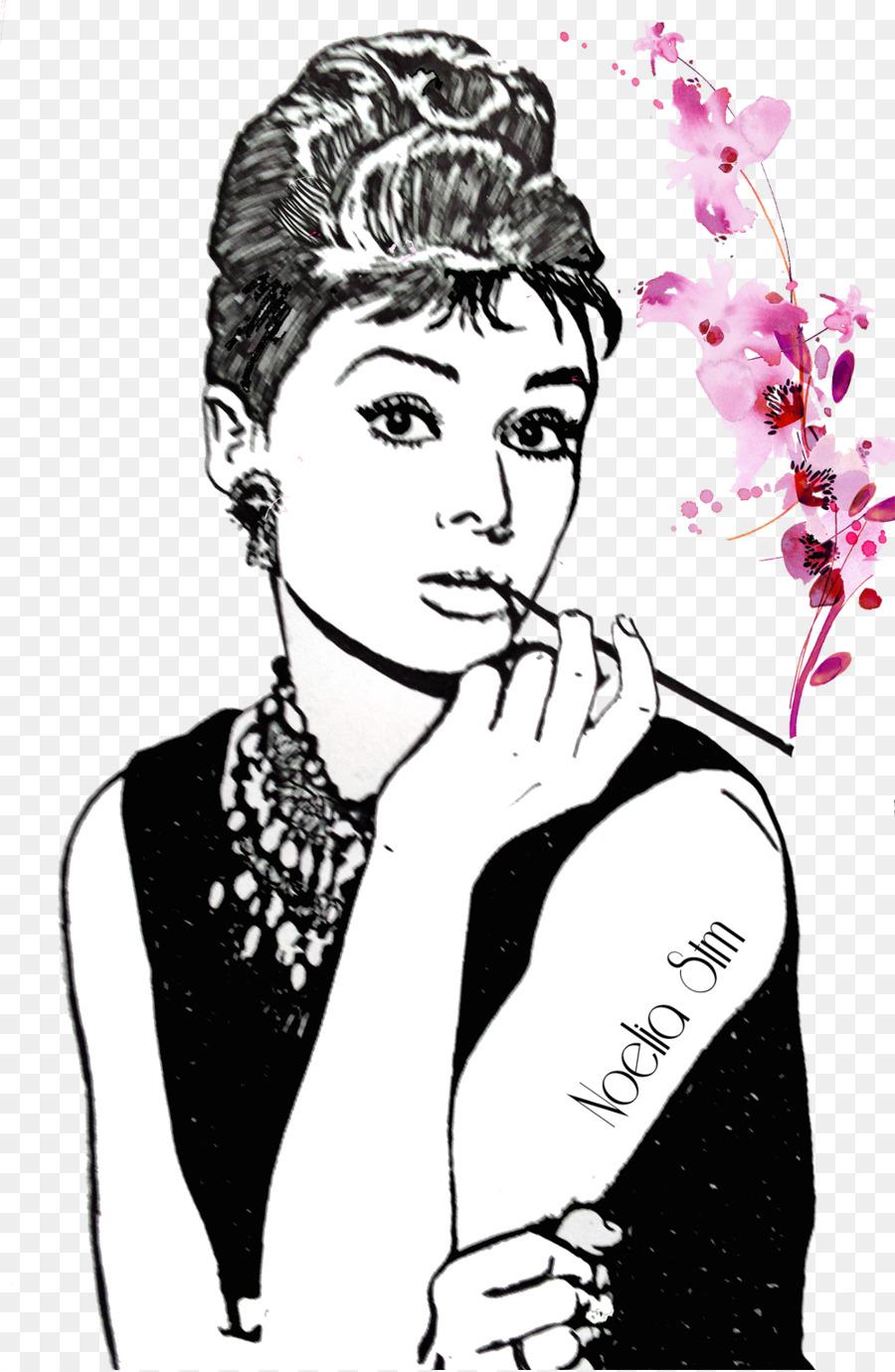 Breakfast at Tiffany\'s Audrey Hepburn Bedroom - pop arte png ...