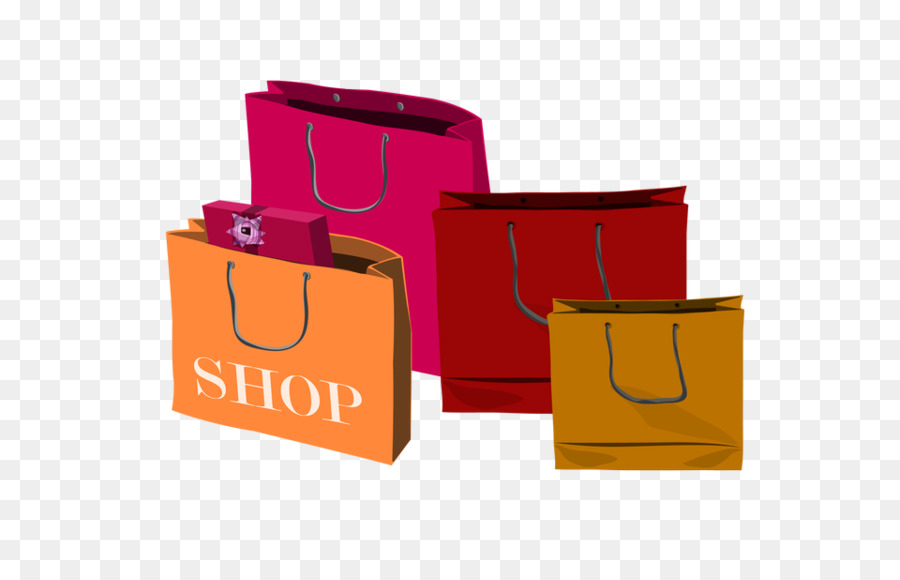 Shopping Bags Trolleys Gift Clip Art