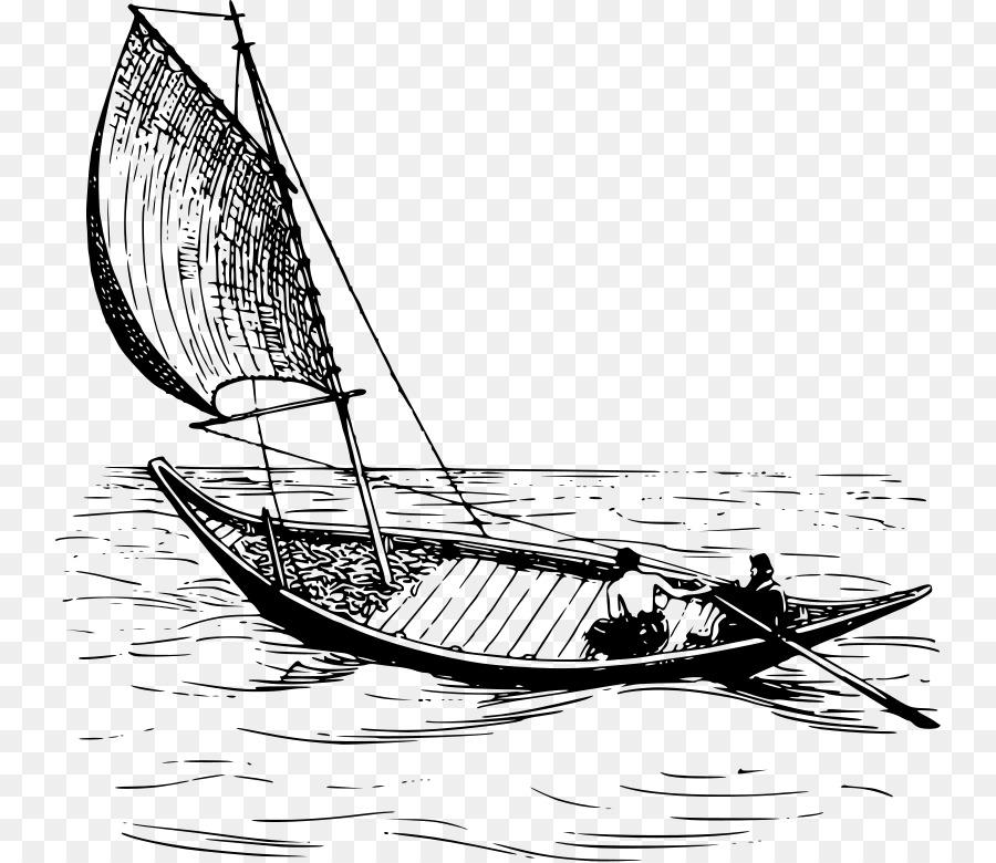 Velero de Dibujo Clip art - barco de pesca png dibujo - Transparente ...
