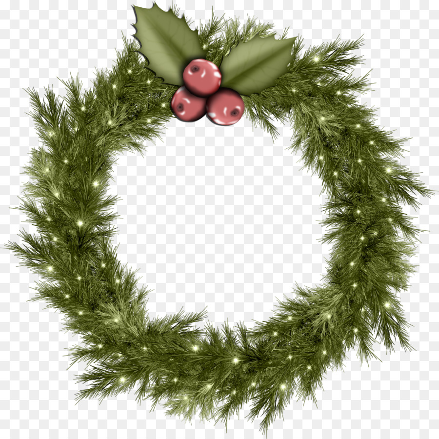 Christmas Wreath Garland Clip art - christmas garland png download ...