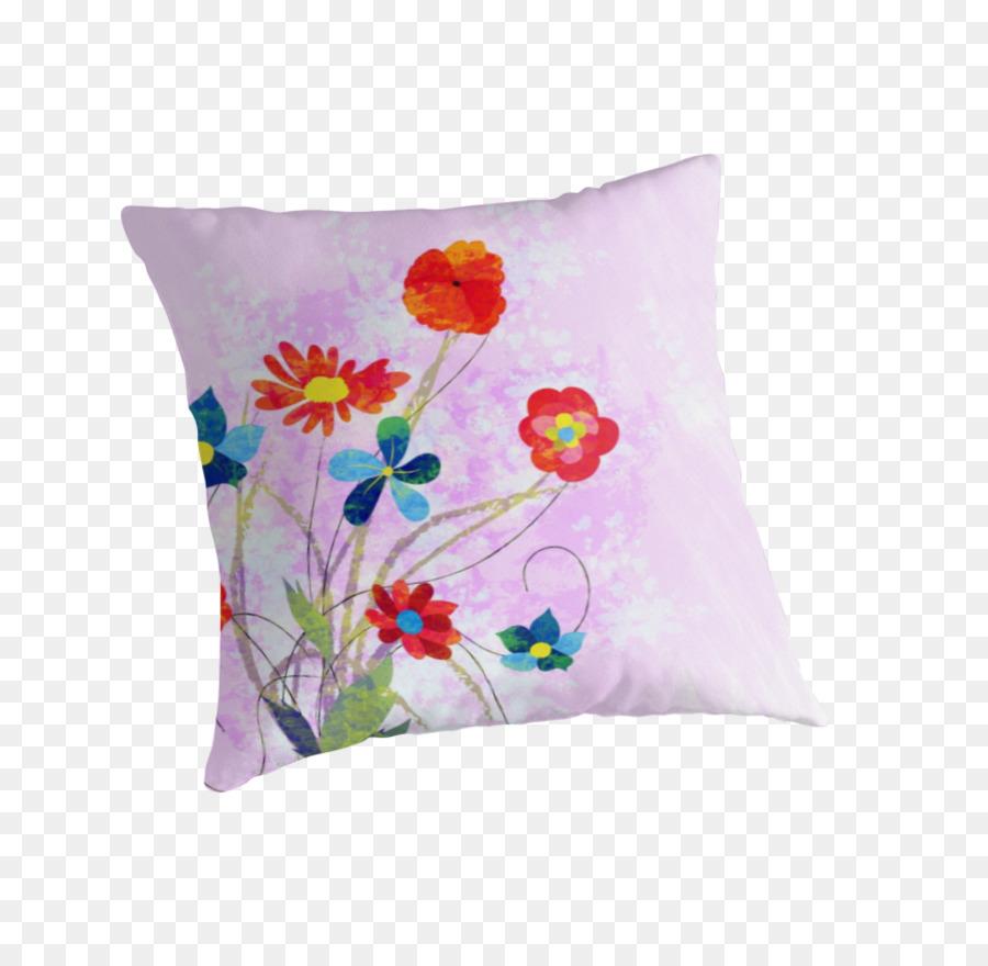 Throw Pillows Cushion Flower Petal Watercolor Calendar Png