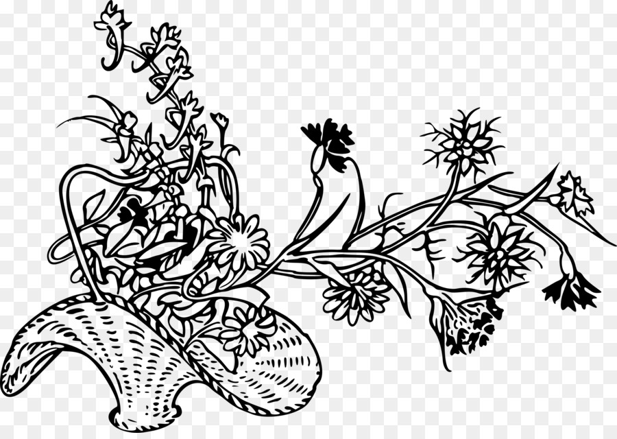 Drawing Basket Flower Coloring book Clip art - small flowers png ...