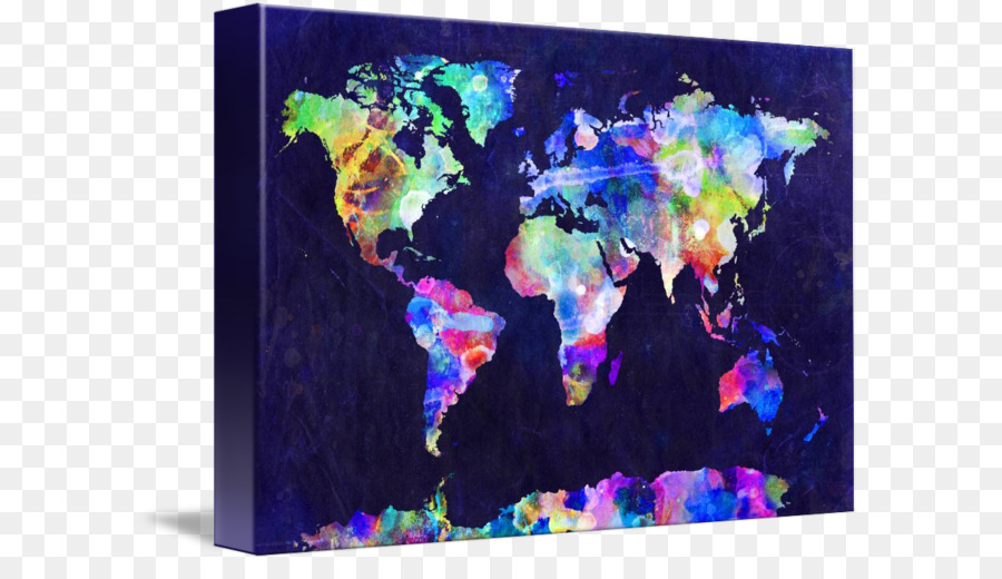 World map globe canvas print watercolor painting watercolor map world map globe canvas print watercolor painting watercolor map gumiabroncs Gallery