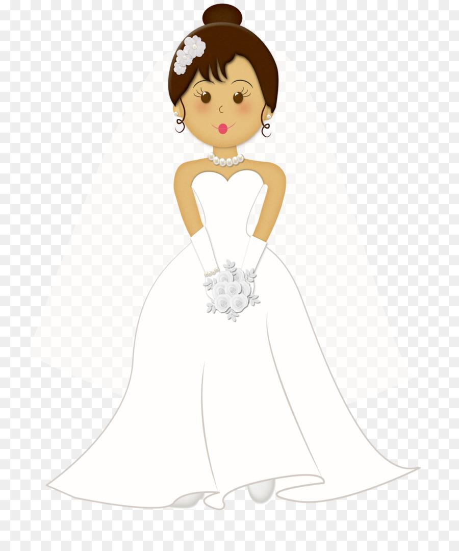 Wedding invitation Bride Marriage Clip art - cartoon bride png ...