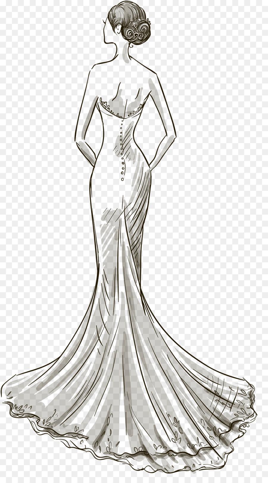 Wedding dress Drawing - dress png download - 1041*1854 - Free ...