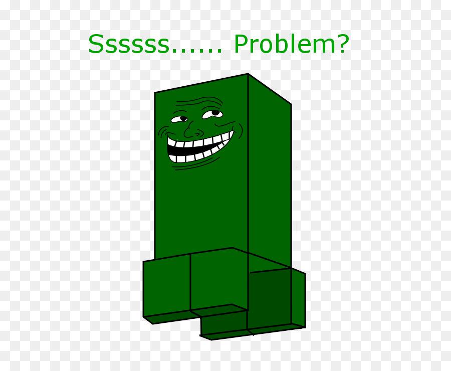 Deviantart Internet Troll Logo Creeper Minecraft Png Herunterladen